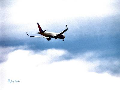 Photograph - Airplane Over Seattle Washington  by Sadie Reneau