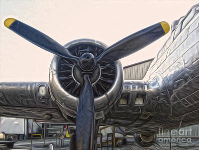 Airplane Propeller - 01 Art Print by Gregory Dyer