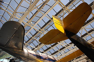 Photograph - Airplane Rudders by Kenny Glover