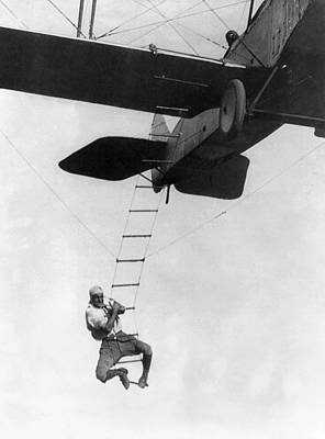 Barnstormer Photograph - Airplane Stunt Man, 1921 by Granger
