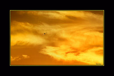 Airplane To The Sun Art Print