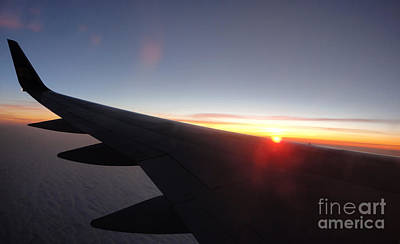 Photograph - Airplane Wing - 01 by Gregory Dyer
