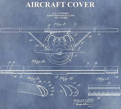 Aviator Mixed Media - Airplane Wing Cover by Dan Sproul