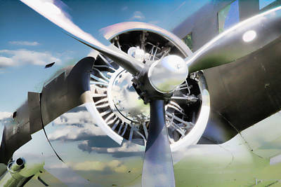 Photograph - Airplane Propeller In The Clouds by Athena Mckinzie