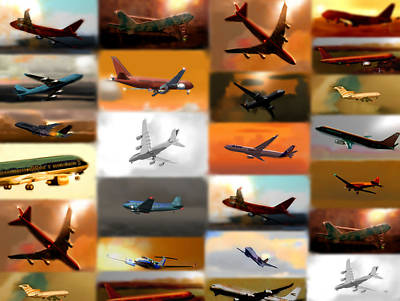 Dc3 Digital Art - Airplanes Collage by Marcello Cicchini