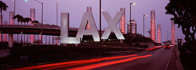 Airport At Dusk, Los Angeles Art Print by Panoramic Images
