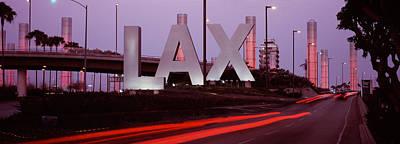 Airport At Dusk, Los Angeles Art Print