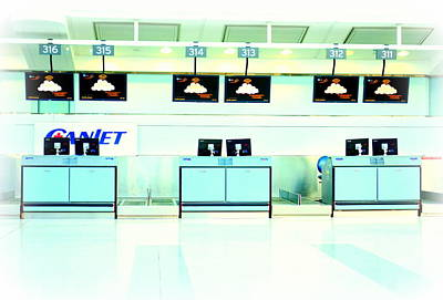 Photograph - Airport Counters by Valentino Visentini