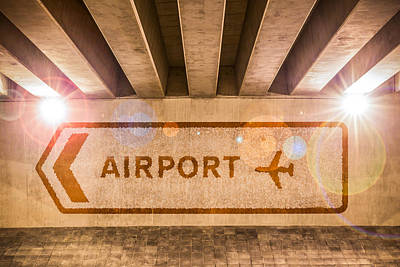 Airport Directions Art Print by Semmick Photo