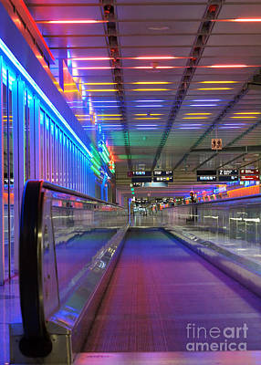 Photograph - airport light installation Munich 2 by Rudi Prott