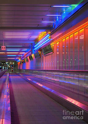 Photograph - airport light installation Munich by Rudi Prott