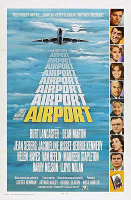 Dean Martin Poster Photograph - Airport by Movie Poster Prints