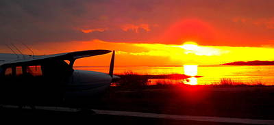 Photograph - Airport Sunset 1 by Sheri McLeroy