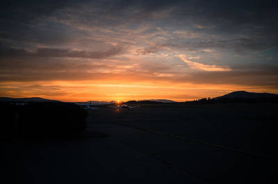 Photograph - Sunset Over The Airport by Marilyn Wilson