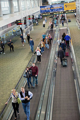 Tourist Industry Photograph - Airport Travelators by Jim West