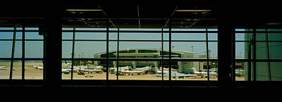 Airport Terminal Photograph - Airport Viewed by Panoramic Images