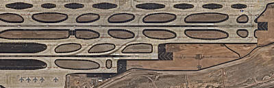 Photograph - Airport With Runway From Above by Nearmap