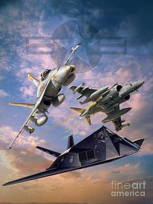Airpower Over Iraq Art Print by Stu Shepherd