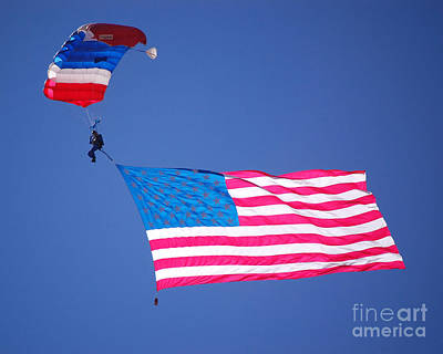 Photograph - Airshow Flag Jumper  by Debra Thompson