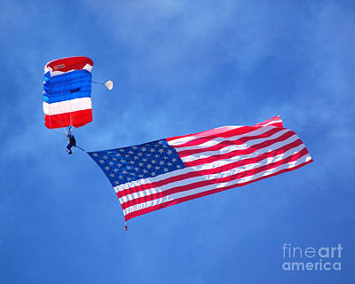 Photograph - Airshow Flag Jumper Sunny Day by Debra Thompson