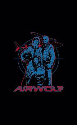 Helicopter Digital Art - Airwolf - Graphic by Brand A