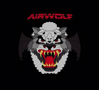 Helicopter Digital Art - Airwolf - Patch by Brand A
