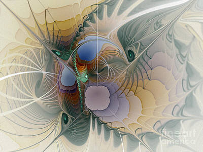 Fractal Geometry Digital Art - Airy Space-fractal Art by Karin Kuhlmann