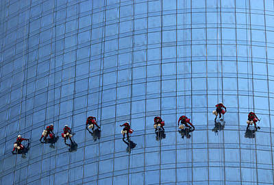 Climb Photograph - Airy Workplace by Hans-wolfgang Hawerkamp