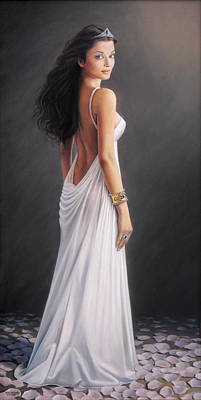 Aishwarya Rai - Oil On Canvas Original by Mike Roberts