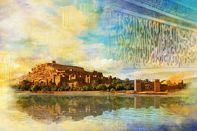 Historic Site Painting - Ait Benhaddou  by Catf