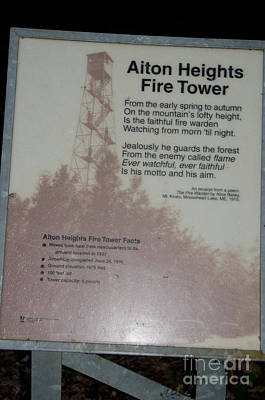 Photograph - Aiton Heights Fire Tower by Cassie Marie Photography