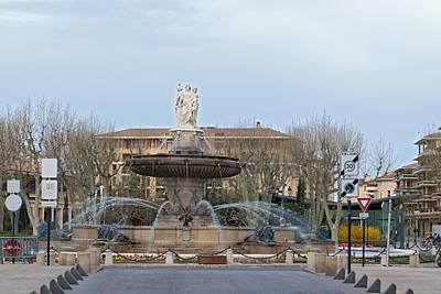 Photograph - Aix En Provence  France Fountain De La Rotonde by Marek Poplawski