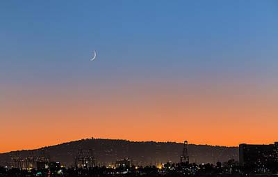 Photograph - Ajs Moonset Byu Denise Dube by Denise Dube