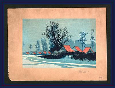 Aka Yane No Ieie, Red Roofs. Between 1900 And 1920 Print by Konen, Uehara (1878-1940), Japanese