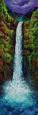 Red Cliffs Painting - Akaka Falls by Darice Machel McGuire