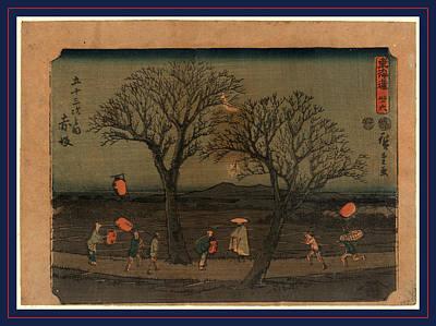 Akasaka, Ando Between 1848 And 1854, 1 Print  Woodcut Art Print by Utagawa Hiroshige Also And? Hiroshige (1797-1858), Japanese
