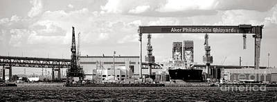 Photograph - Aker Philadelphia Shipyard by Olivier Le Queinec
