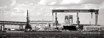 Phillies Photograph - Aker Philadelphia Shipyard by Olivier Le Queinec