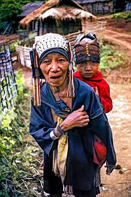 Hill Tribe Photograph - Akha Tribe II Paint Filter by Steve Harrington