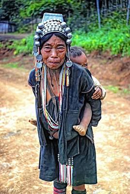 Hill Tribe Photograph - Akha Tribe by Steve Harrington