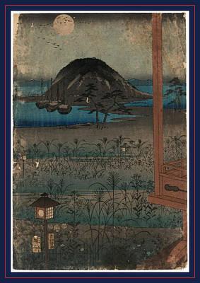 Full Body Drawing - Aki No Tsuki, Autumn Moon Landscape. 1853 by Utagawa Hiroshige Also And? Hiroshige (1797-1858), Japanese
