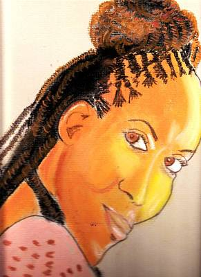 Drawing - Akilah by Lorna Lorraine