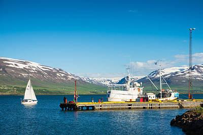 Photograph - Akureyri Harbor North Iceland Europe by Matthias Hauser