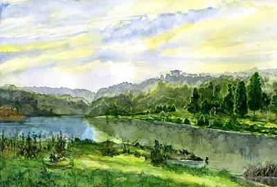 Lasy Painting - Akwarela Na Podstawie I. Szyszkina by Witold Kubicha