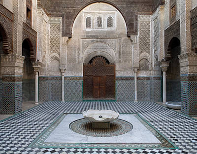 Moroccan Photograph - Al-attarine Madrasa Built By Abu by Panoramic Images