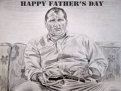 Drawing - Al Bundy - Happy Fathers Day by Michael Morgan