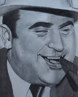 Drawing - Al Capone by Aaron Balderas