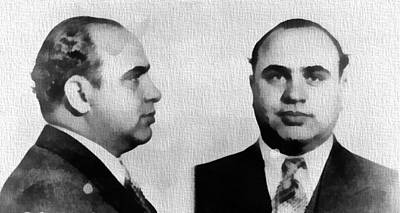 Alphonse Photograph - Al Capone Mug Shot by Dan Sproul