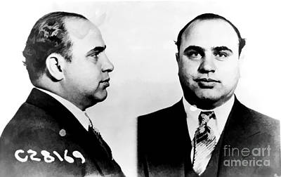 Jail Photograph - Al Capone Mug Shot by Edward Fielding