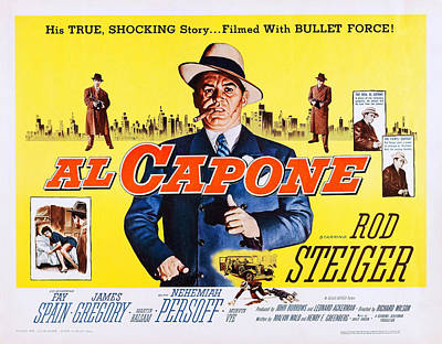 Al Capone, Us Lobbycard, Rod Steiger Art Print by Everett